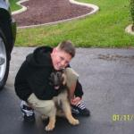 Zues and one of his boys Libby and Jerry Lee puppy